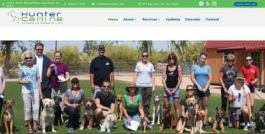 hunter canine website design built by azmarketer