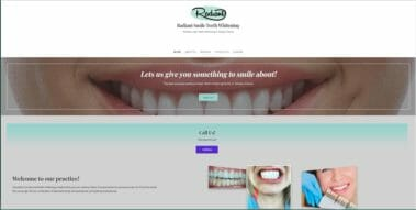 radiant smile az website design by azmarketer